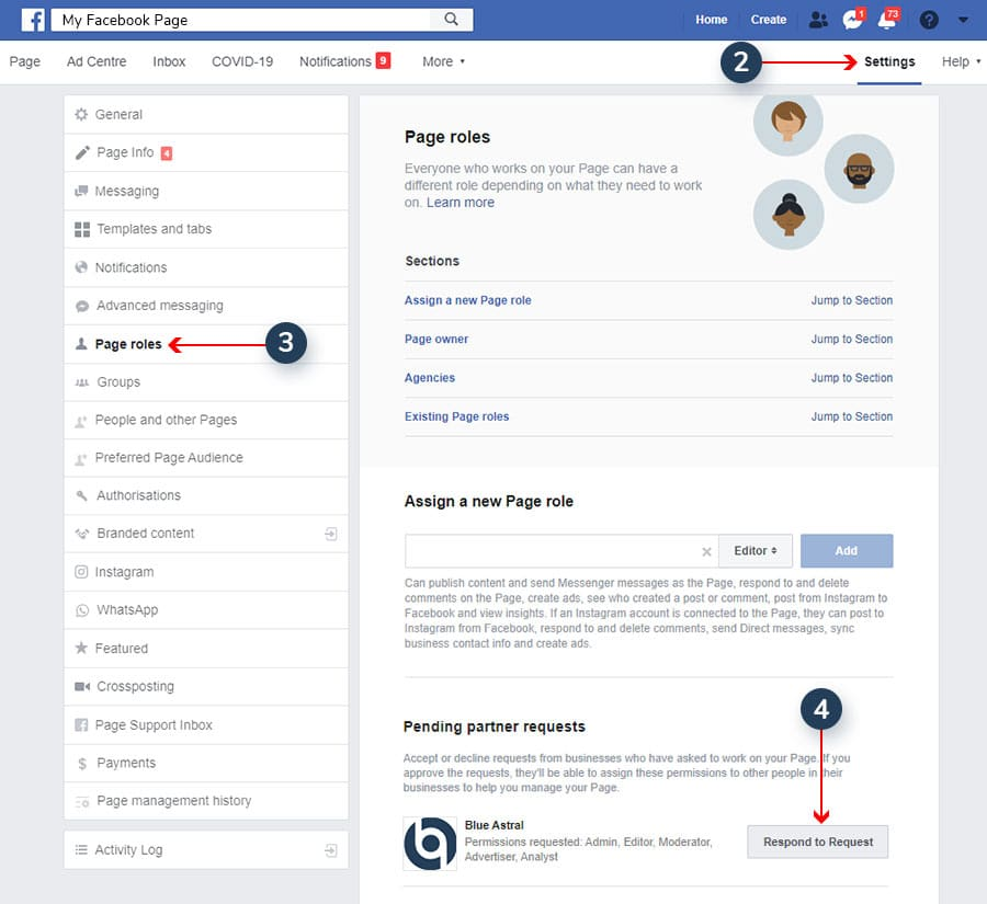 How to Accept Facebook Page Access Requests 2