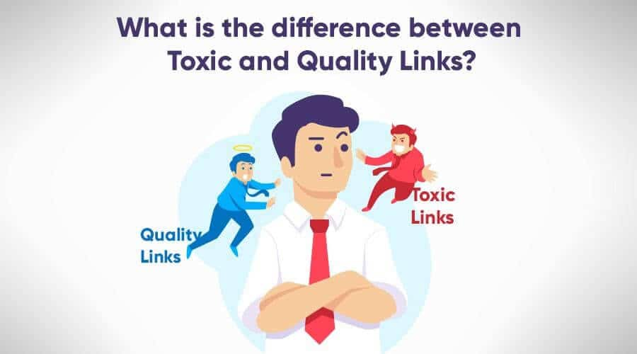 A confused man thinking about toxic and quality links - What is the difference between toxic links and quality links