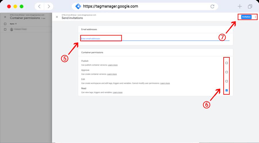 Container user edit permissoin